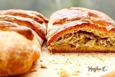 Fantazje kulinarne Magdy K.: Kulebiak drożdżowy z kapustą i grzybami