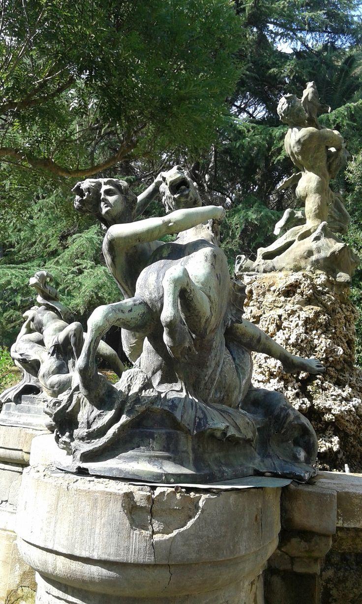 Ninfa col cavallo marino - Fontana delle Naiadi di Rutelli, modelletto per piazza dell'Esedra in Roma # Naiadi # Tamerici # Montecatini #