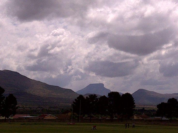 Lukhanji mountain at a distance. Queenstown, South Africa