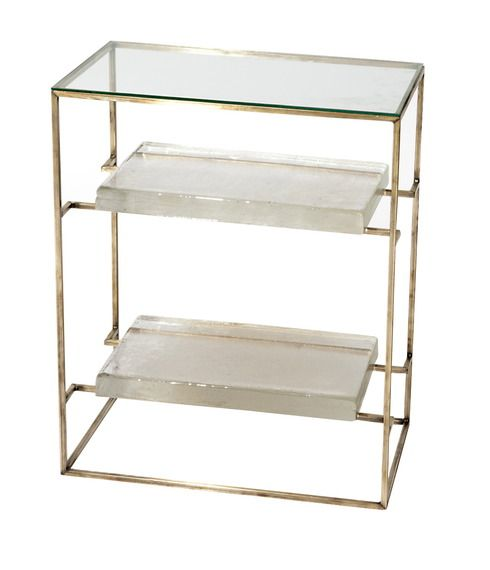 Buy Cast Glass Side Table - Side Tables - Tables - Furniture - Dering Hall