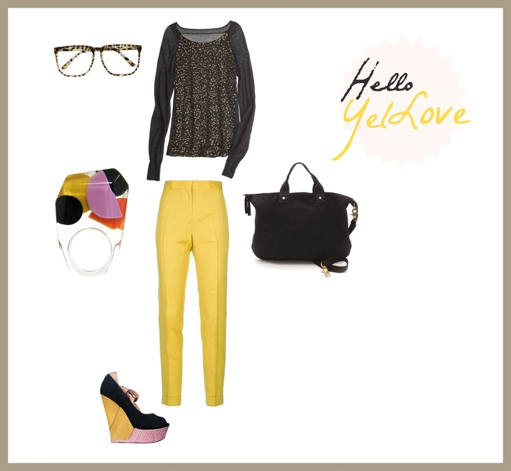 #set #outfit #clothes #stylish #yellow #gold Hello YelLove / by Taki Trik