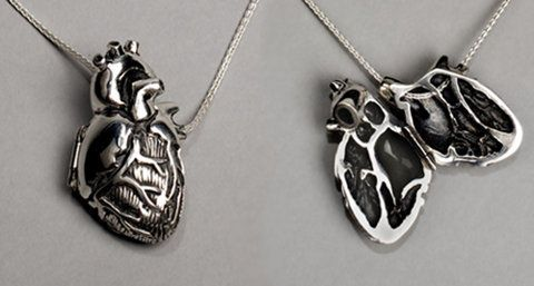 Anatomical heart necklace, I love this so much