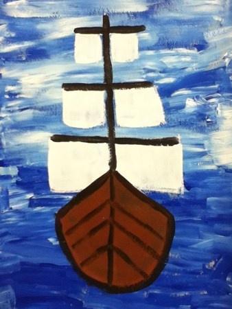 Emma12035's art on Artsonia Winslow Homer Ship Painting 2nd Grade Art Lesson