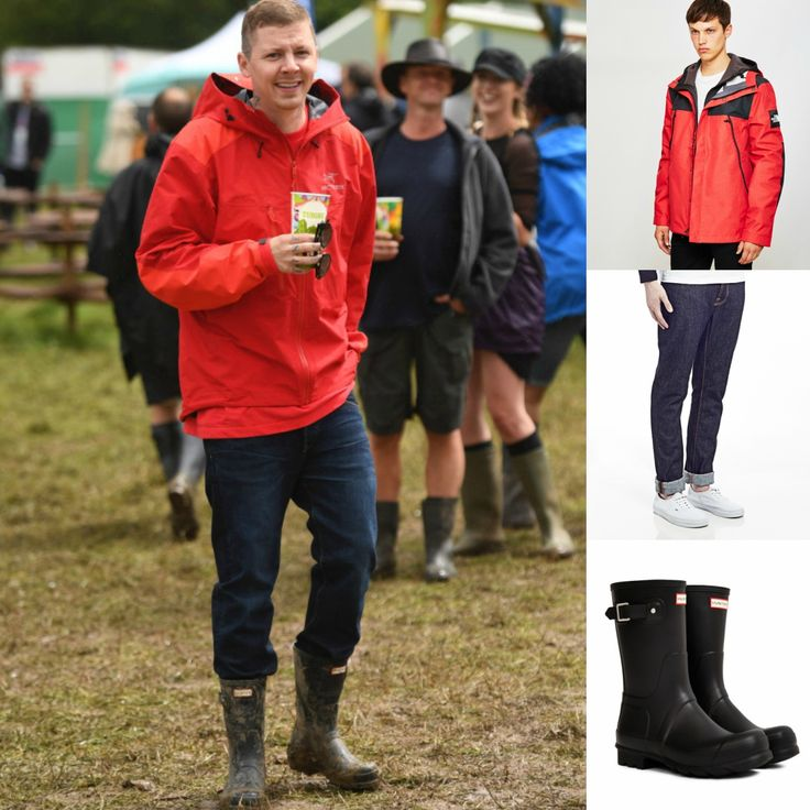 Professor Green wearing short Hunter wellies |  |  Shop now at The Idle Man | #StyleMadeEasy