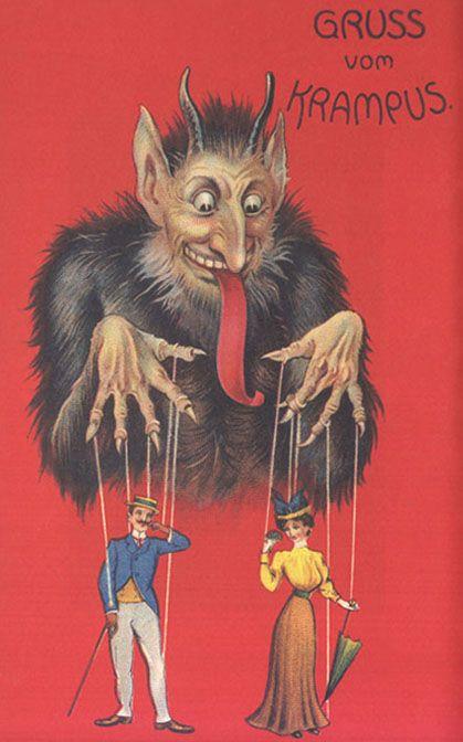 Vintage Krampus Postcard