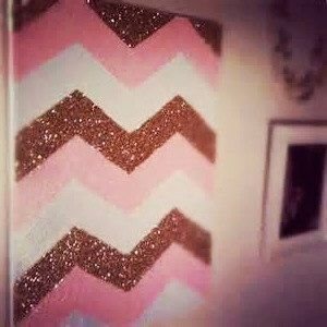 Glitter Chevron Canvas Chevron Canvas Art by DesignInTheDesert