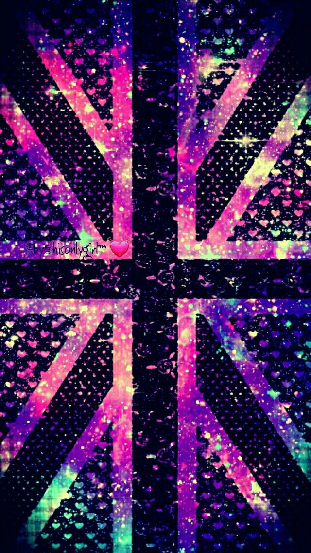 British flag galaxy iPhone/Android wallpaper I created for the app CocoPPa.