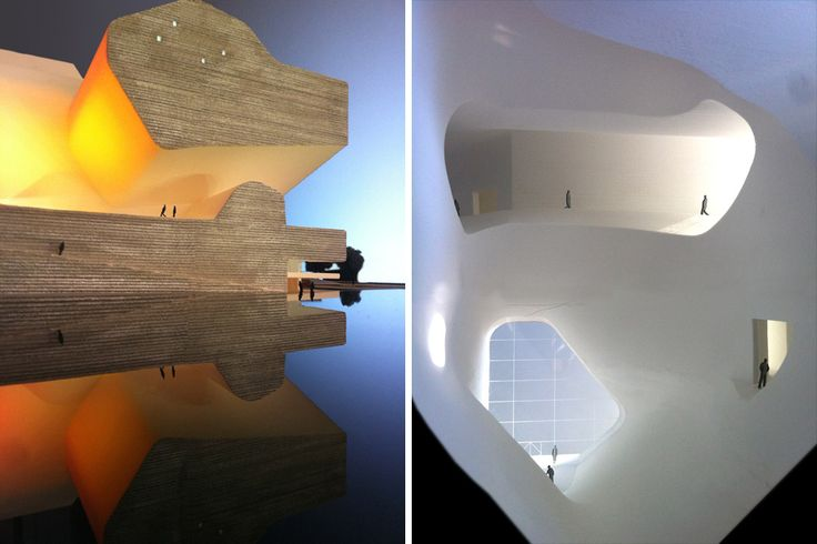 Model. Tianjin Ecocity Ecology and Planning Museums design by Steven Holl Architects.