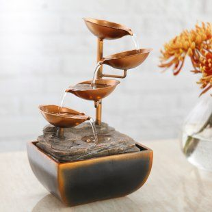 $45.99 Sacco Tabletop Fountain - Indoor Tabletop Fountains at Simply Fountains