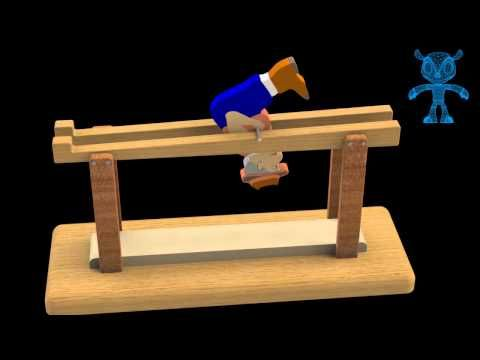 Balancing Barrister Wooden Toy 3d Model Youtube