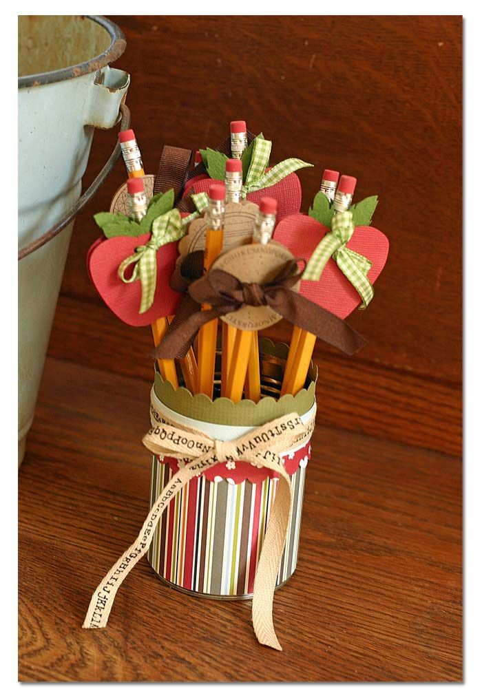 Pencils with apples would be cute welcome gifts for students (check it out ms. @Emily Schoenfeld Schoenfeld Schoenfeld Schoenfeld Hempill and Ms. @Kristi Beckett)