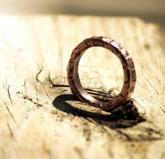Copper Ring Men's Copper Ring Sturdy Round 4mm by EilaBelle
