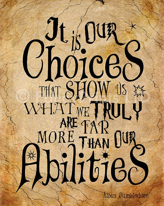 Harry Potter Quotes Albus Dumbledore Quotes by FancyPrintsforHome: