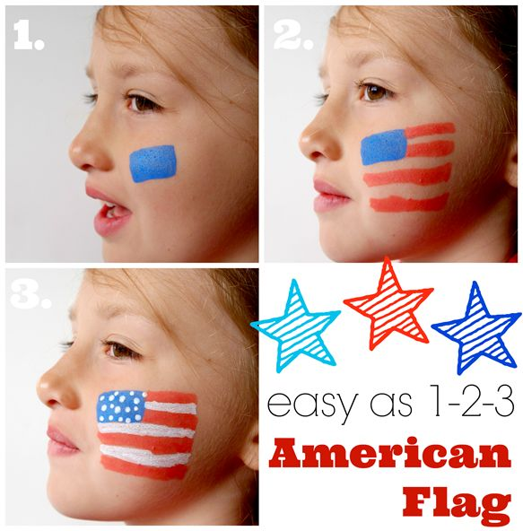 easy as 1-2-3 American Flag with DecoArt People Paint