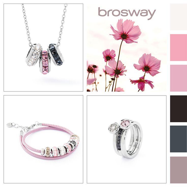 Ispirazione Colore: Soffio di petali #BroswayJewels con #TrèsJolieMini #Bracciale, #TrèsJolie #Collana e #Tring #Anelli
