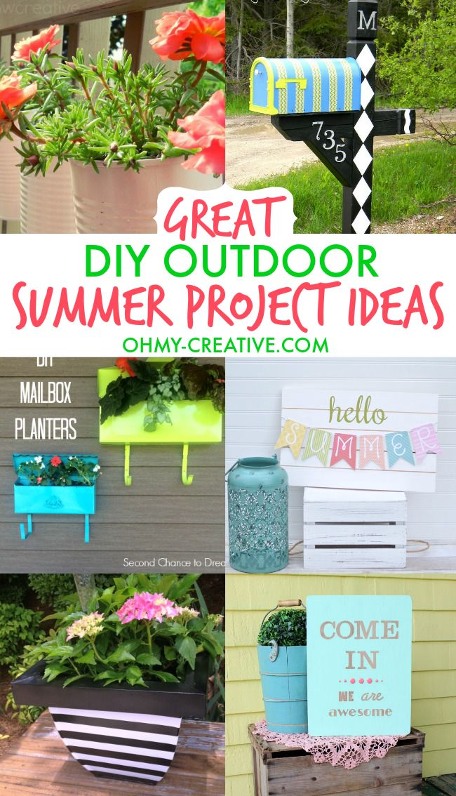 Great DIY Outdoor Summer Project Ideas  |  OHMY-CREATIVE.COM