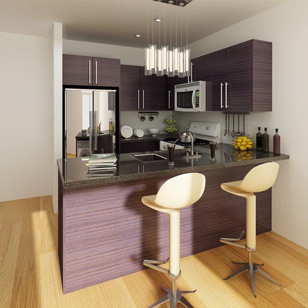 kitchen cabinets, melamine, purple, OP14-M04