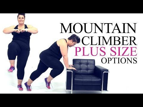 Plus size mountain climber modification from Coach Tulin YouTube