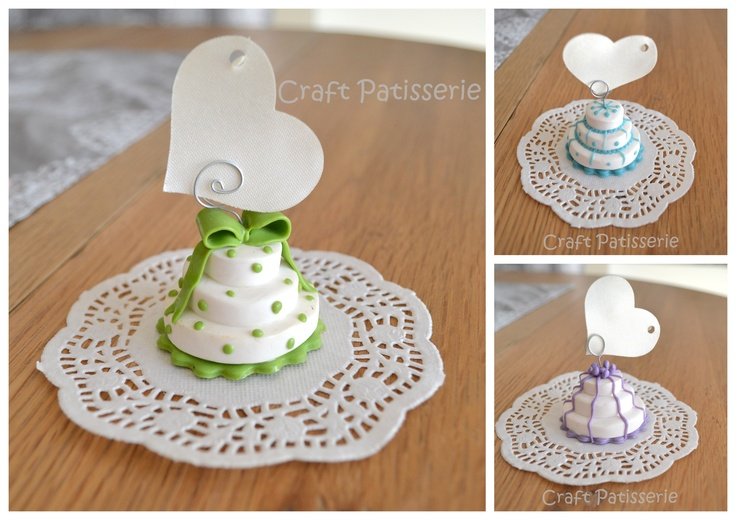 handmade polymer clay wedding favor <3