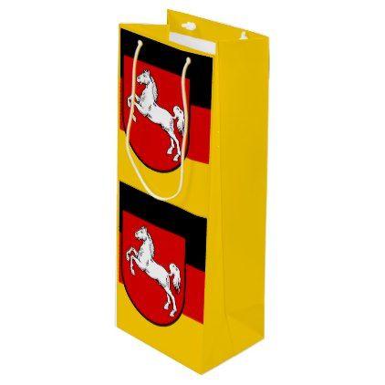 Flag of Lower Saxony Wine Gift Bag - horse animal horses riding freedom