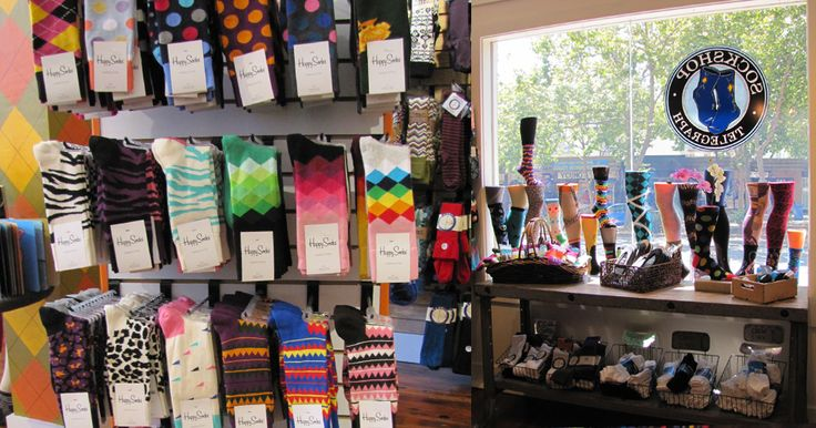 "Sockshop on Telegraph — the coolest sock store EVER! This is where I got my gecko socks, my ""lions and tigers and bears"" socks, my tie-dyed socks, and about a dozen different varieties of striped socks."