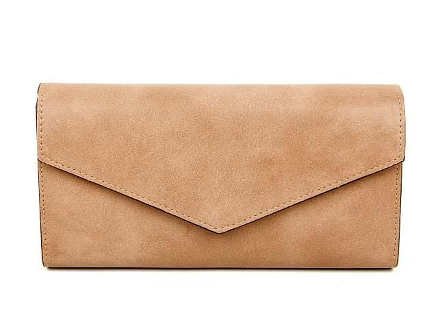 BEIGE LEATHER EFFECT MULTI-COMPARTMENT PURSE WITH WRIST STRAP, £8.99 - A-SHU.CO.UK