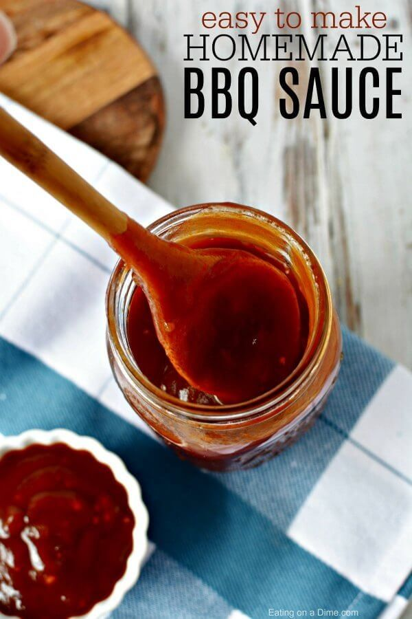 Easy Homemade Bbq Sauce Recipe Eating On A Dime Homemade