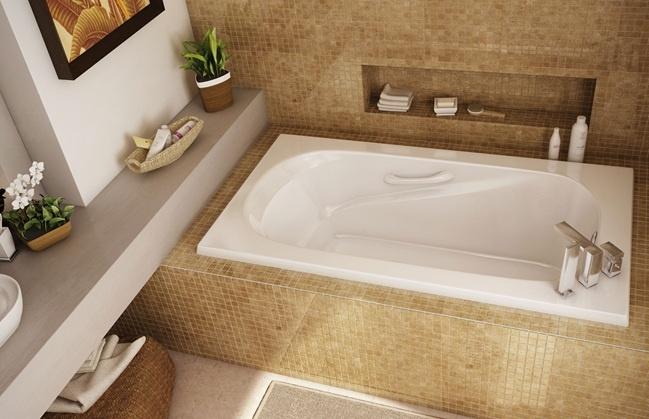 Maax cs 53 553 63 alcove drop in bathtub for Deep alcove tub