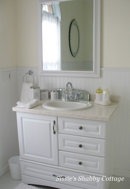 Bathroom Vanity With Beadboard | Beadboard Bathroom   Lower The Bead Board,  Level With Countertop