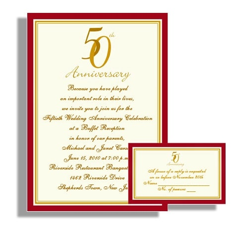 27 best anniversary invitations images on pinterest anniversary anniversary invitations 50th 50th20anniversary20party20invitations20in20red stopboris Gallery