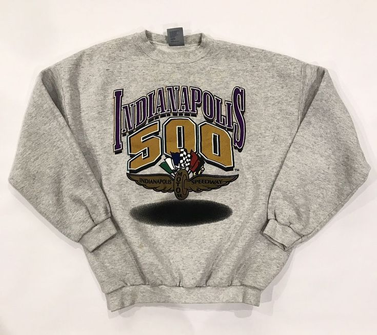Logo 7 Vintage Indianapolis Motor Speedway 500 heavy weight XL Gray Sweatshirt  | eBay