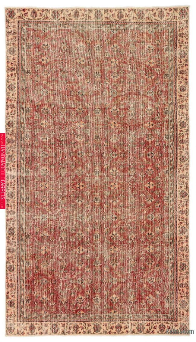Turkish Vintage Rug 5 4 X 9 1 64 In X 109 In Vintage Turkish Rugs Vintage Rugs Rugs