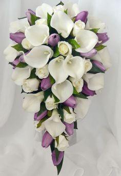Resultado de imagen de ramos de novia con tulipanes