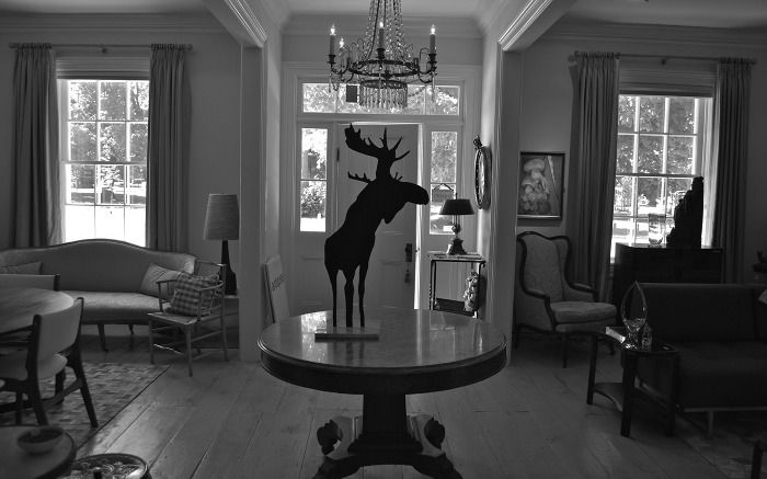 Oh, Canada! Charles Pachter wouldn't be any more proud to see his Moose looking so strong and free in our Bayfield store. We are open seasonally from May to September. Like every year we will have a whole new look! Come visit us this summer just off the Bluewater Highway. Located at the historic Gordon House in Bayfield, Ontario, Canada.