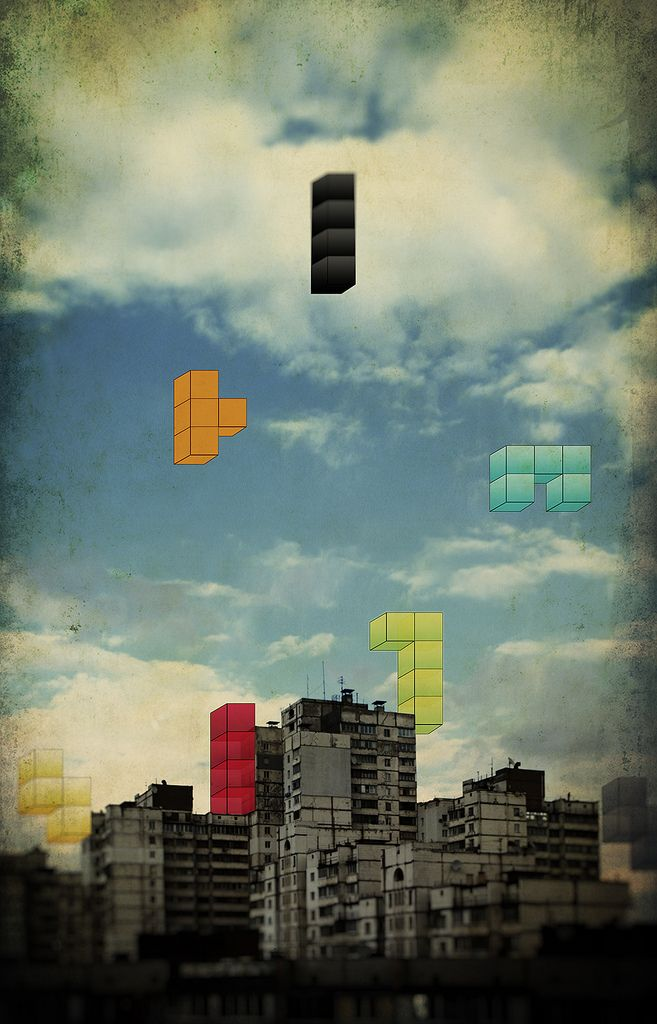 Now I'm going to go around imagining tetris pieces falling from the sky in various places...