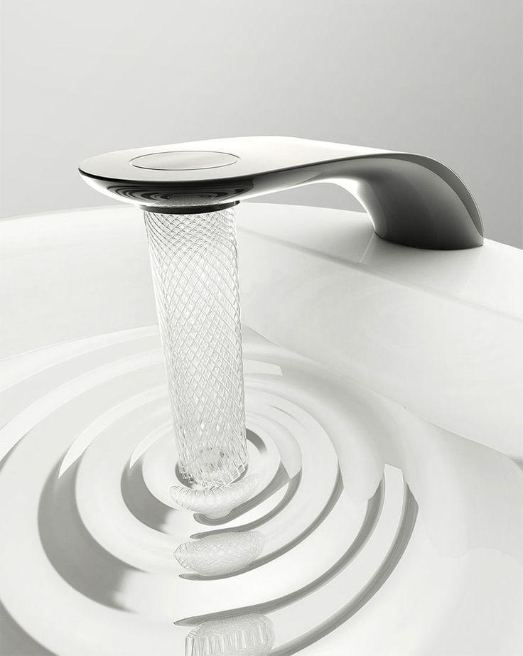 """PHOTOS. Economie d'eau: """"Swirl"""", le robinet qui fait couler l'eau en spirale"""