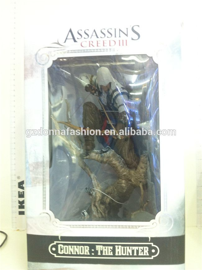 2015 New Arrive Assassins Creed Figure Action 26cm Pvc Assassins Creed Hidden Blade Figure Connor Cosplay Anime Model, View Assassins Creed, donnatoyfirm Product Details from Guangzhou Donna Fashion Accessory Co., Ltd. on Alibaba.com