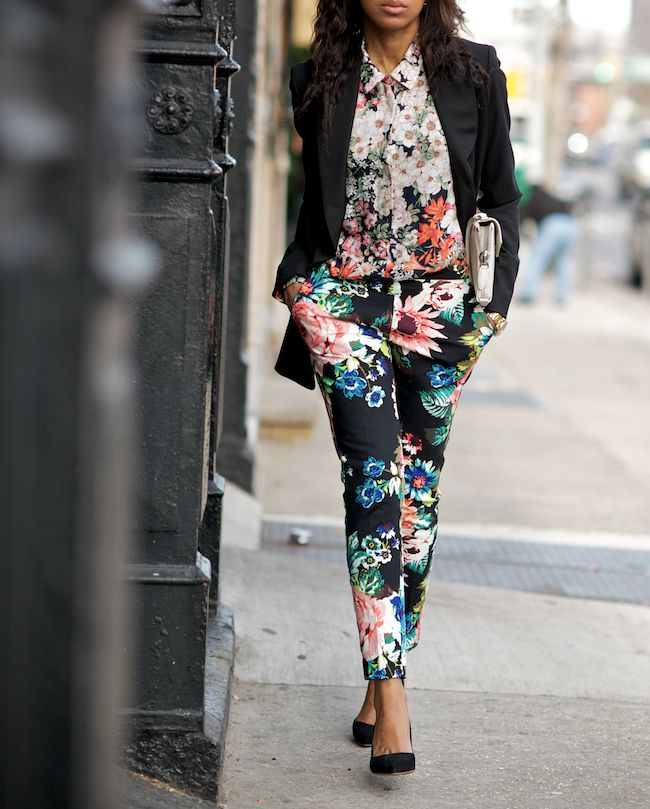 floral floral floral: Floral Prints, Fashion, Pattern, Street Style, Outfit, Floral Pants, Flower