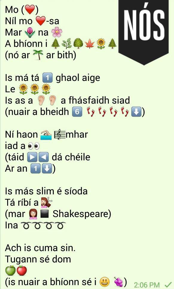Gaeilge nós...