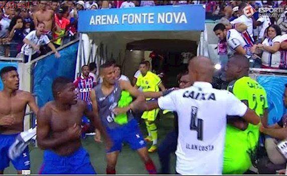 LAMENTÁVEL! Após o fim de jogo no Ba-Vi teve confusão na Itaipava Arena Fonte Nova