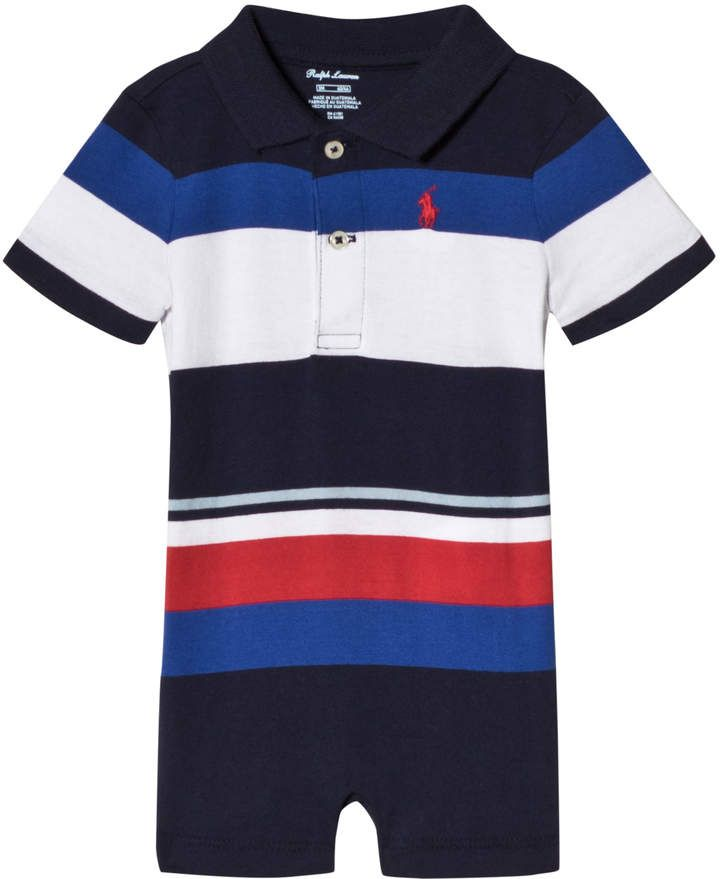 364370667a7 Blue, Navy and Red Stripe Jersey Romper #designer#Ralph#American ...