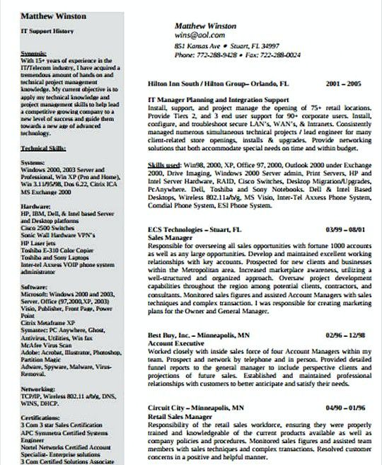 It Networking Manager Resume Template It Infrastructure Manager