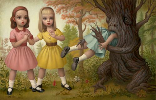 "Mark Ryden ""Girl eaten by tree"""