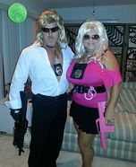 Couples Halloween costume idea: The Bounty Hunters Homemade Couple Costume