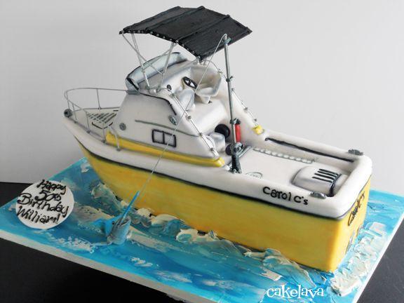 cakelava: William's 50th Birthday Fishing Boat Cake