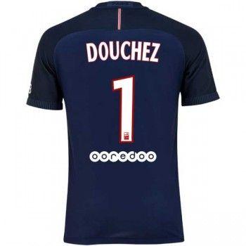 Paris Saint Germain PSG 16-17 Nicolas Douchez 1 Hemmatröja Kortärmad  #Fotbollströjor