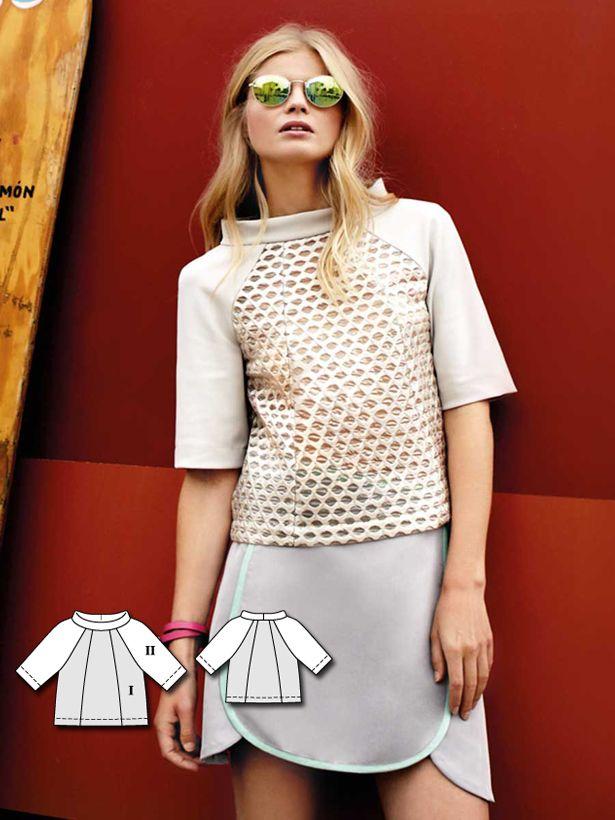 Short Sleeve Raglan Top 02/2016 #118 http://www.burdastyle.com/pattern_store/patterns/short-sleeve-raglan-top-022016?utm_source=burdastyle.com&utm_medium=referral&utm_campaign=bs-tta-bl-160118-SportyChic118