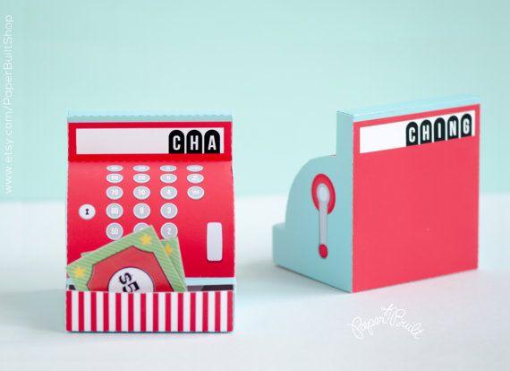 Cash Register Gift Card Box Cash Gift Money Gift by PaperBuiltShop