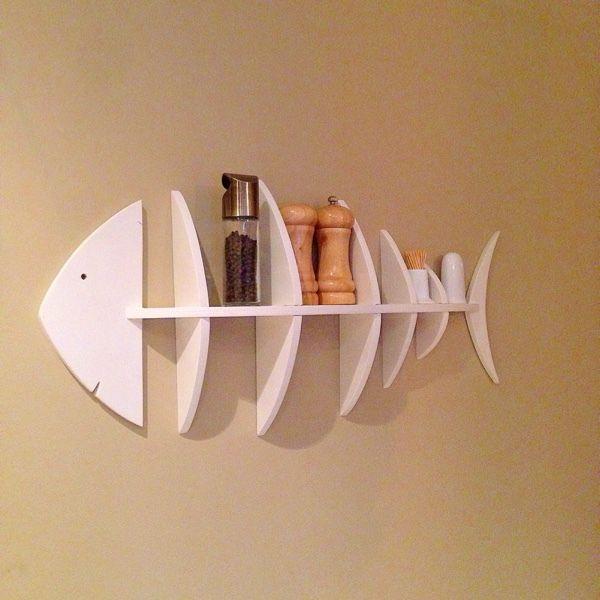 Купить Полка Рыбка - полка, полка для кухни, полка из дерева, полка для специй, полка для книг
