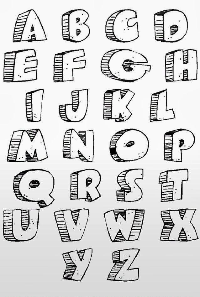 Cool Ways To Write Letters Graffiti Alphabet Graffiti Lettering Bubble Letter Fonts